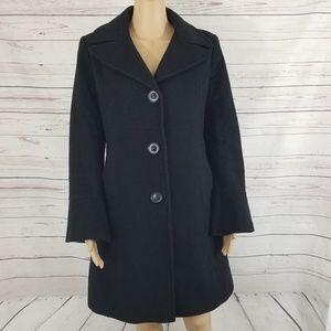 DKNY Wool Cashmere Blend Long Coat 8